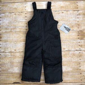 NEW Black London Fog Toddler Snow Bib Suit sz 3T